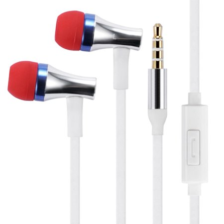 Earbuds Hands-free Earphones w Mic Dual Metal Headphones Headset A3X for ZTE ZPad 8, Warp 7, Overture 3, Prestige 2 (N9136), Maven 2, Nubia 11, Avid 916, Axon 7, 828