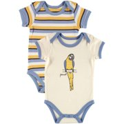 Touched by Nature Baby Boy Bodysuit, 2-Pack