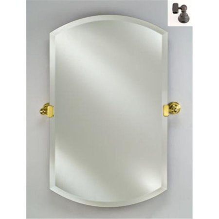 Afina Corporation RM-926-OB 16X26 Double Arch Frameless Mirror with Tilt Brackets - Oil Rubbed Bronze