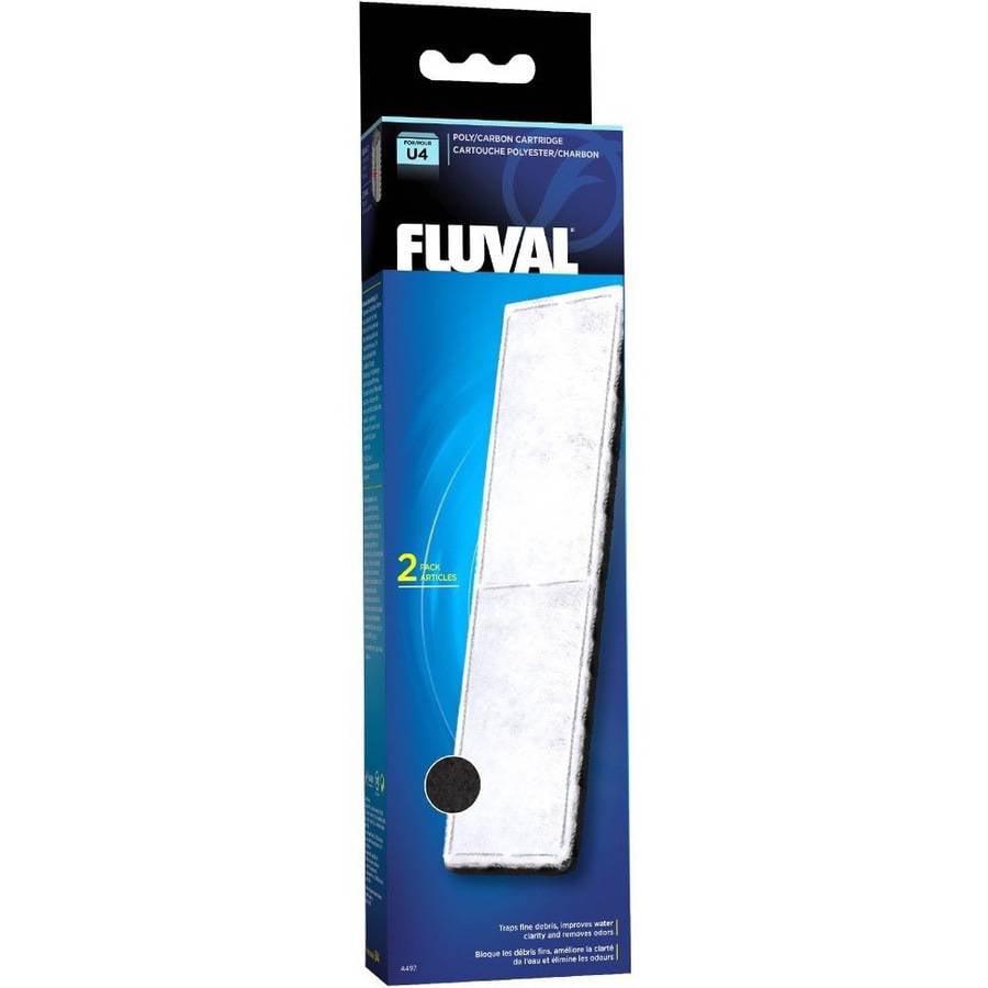 Fluval U4 Filter Poly/Carbon Catridge, 2pk