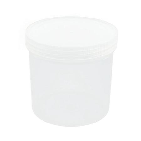 Jar Lab (Unique Bargains 1000mL Capacity Clear White Plastic Chemical Storage Jar Bottle for Laboratory )