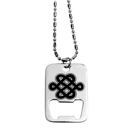 Celtic Dog Tag Bottle Opener Collectible Medallion Necklace Accessory