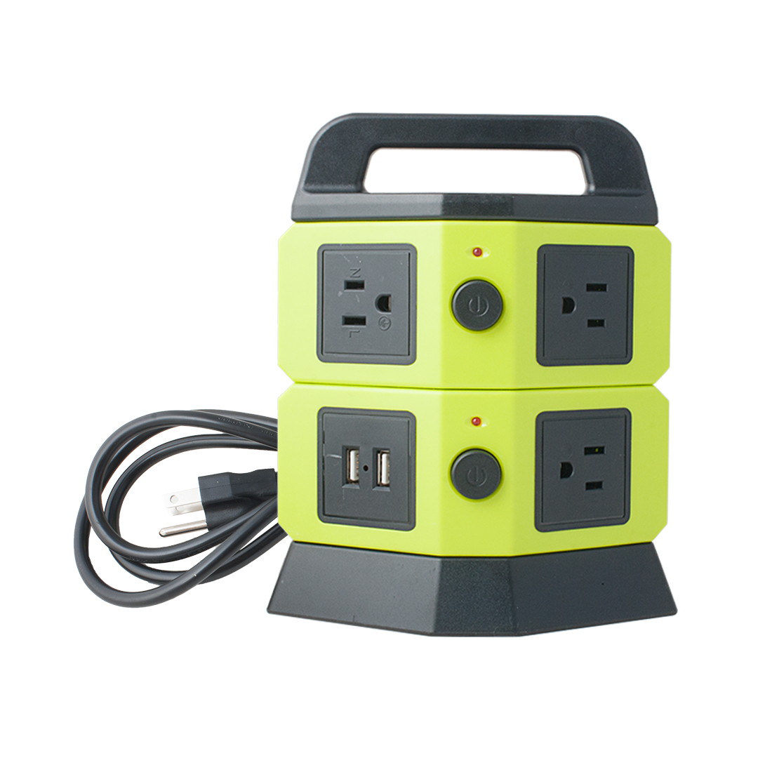 Ac 110v 250v 5 Us Socket 2 Usb Charger Ports Power Outlet Vertical Controlling 110vac With 5vdc Multi