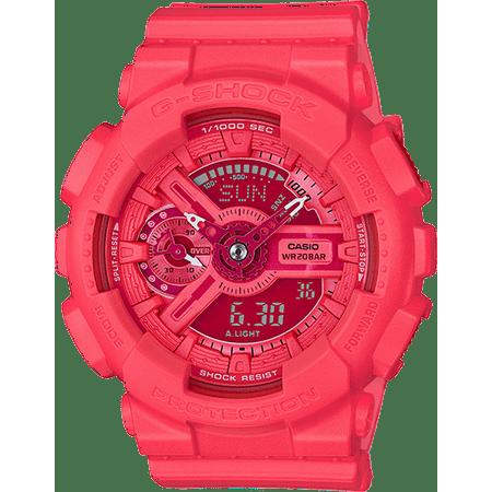 d2bce3043bfc Casio - G-Shock Vivid Color GMAS110VC-4A Pink   Pink Resin Analog Digital  Quartz Women s Watch - Walmart.com