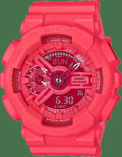 G-Shock Vivid Color GMAS110VC-4A Pink / Pink Resin Analog/Digital Quartz Women's Watch