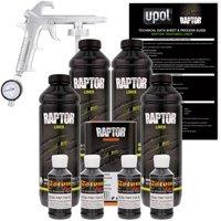 Raptor Black Metallic Urethane Spray-On Truck Bed Liner Spray Gun, 4 Liters