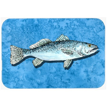 Caroline 39 s treasures fish trout kitchen bath mat for Fish bath mat