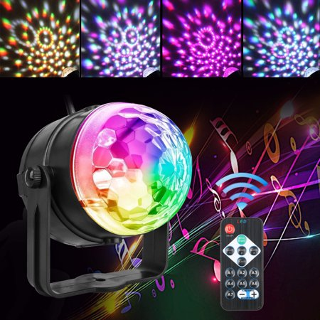 TSV Party Disco Lights Strobe Led DJ Ball Sound Activated Dance Bulb Lamp Decoration](Disco Ball Party)