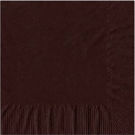 50 Plain Solid Colors Luncheon Dinner Napkins Paper - Brown - Brown Paper Dinner Napkins