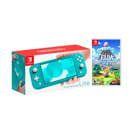 2019 New Nintendo Switch Lite Turquoise Bundle with The Legend of Zelda: Link's Awakening NS Game Disc - 2019 New