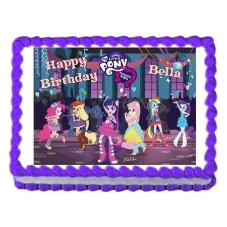 MY LITTLE PONY Equestria Girls edible cake topper decoration cake image sheet - My Little Pony Cupcake Topper