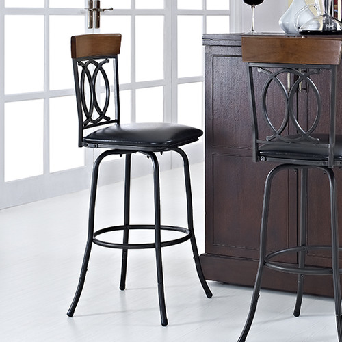 Cameron Adjustable Height Swivel Barstool Bronze With