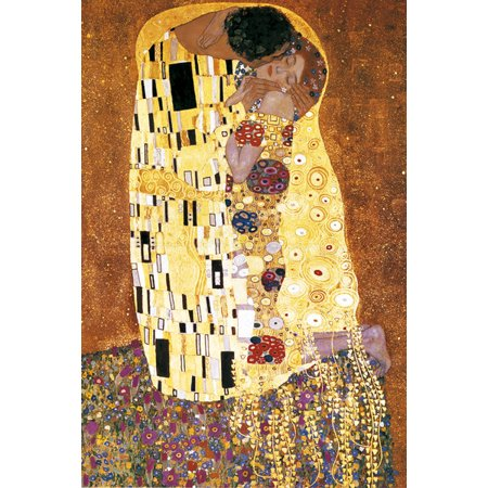 Klimt The Kiss Poster Print (24 x - Klimt The Kiss Halloween