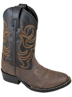 Smoky Mountain Children Boys Monterey Western Cowboy Boots Brown/Black, 12.5M