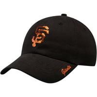 Women's Fan Favorite Black San Francisco Giants Sparkle Adjustable Hat - OSFA