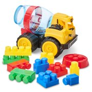 Kid Connection Construction Truck with Blocks Play Set, 11 Pieces