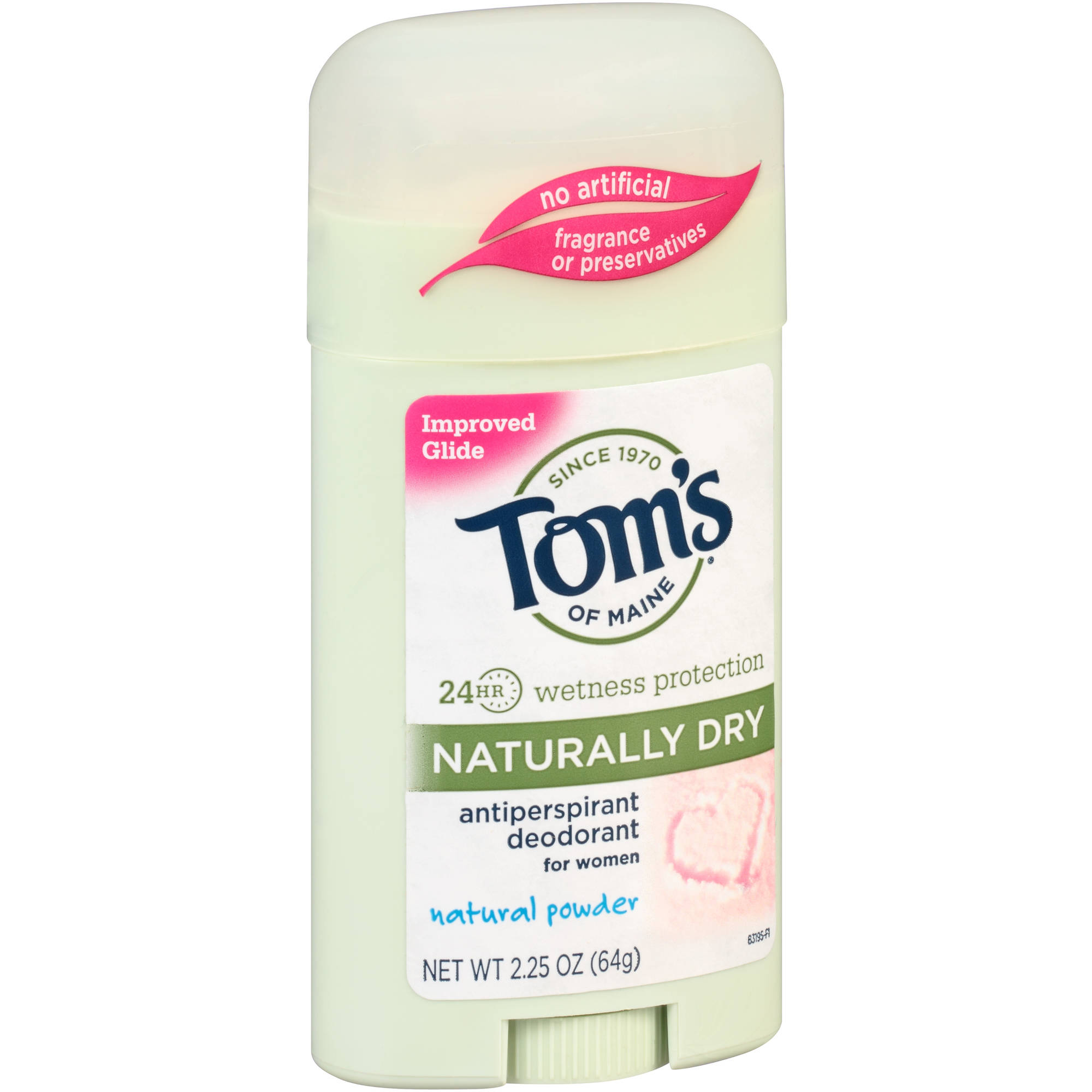 Tom's of Maine Naturally Dry Natural Powder Antiperspirant Deodorant Stick for Women, 2.25 oz