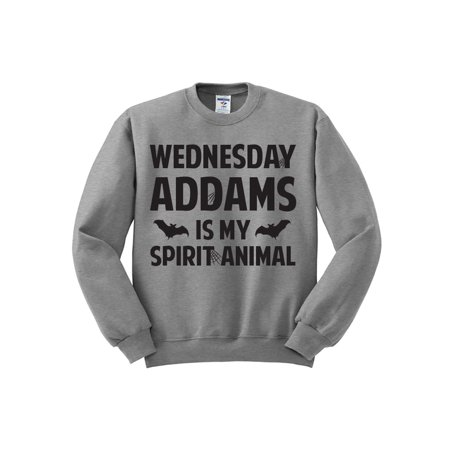 Wednesday Addams is My Spirit Animal (Black Ink) Halloween Sweatshirt