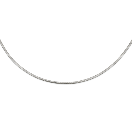 Stainless Steel 4mm Omega Necklace 18in - image 3 de 3