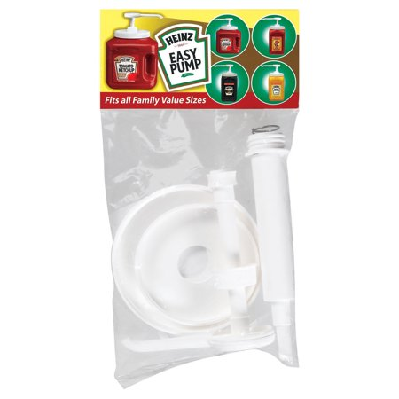 Condiment Pump (Heinz Easy Assembly Pump For Ketchup & Mustard Containers 1 Count Bag )