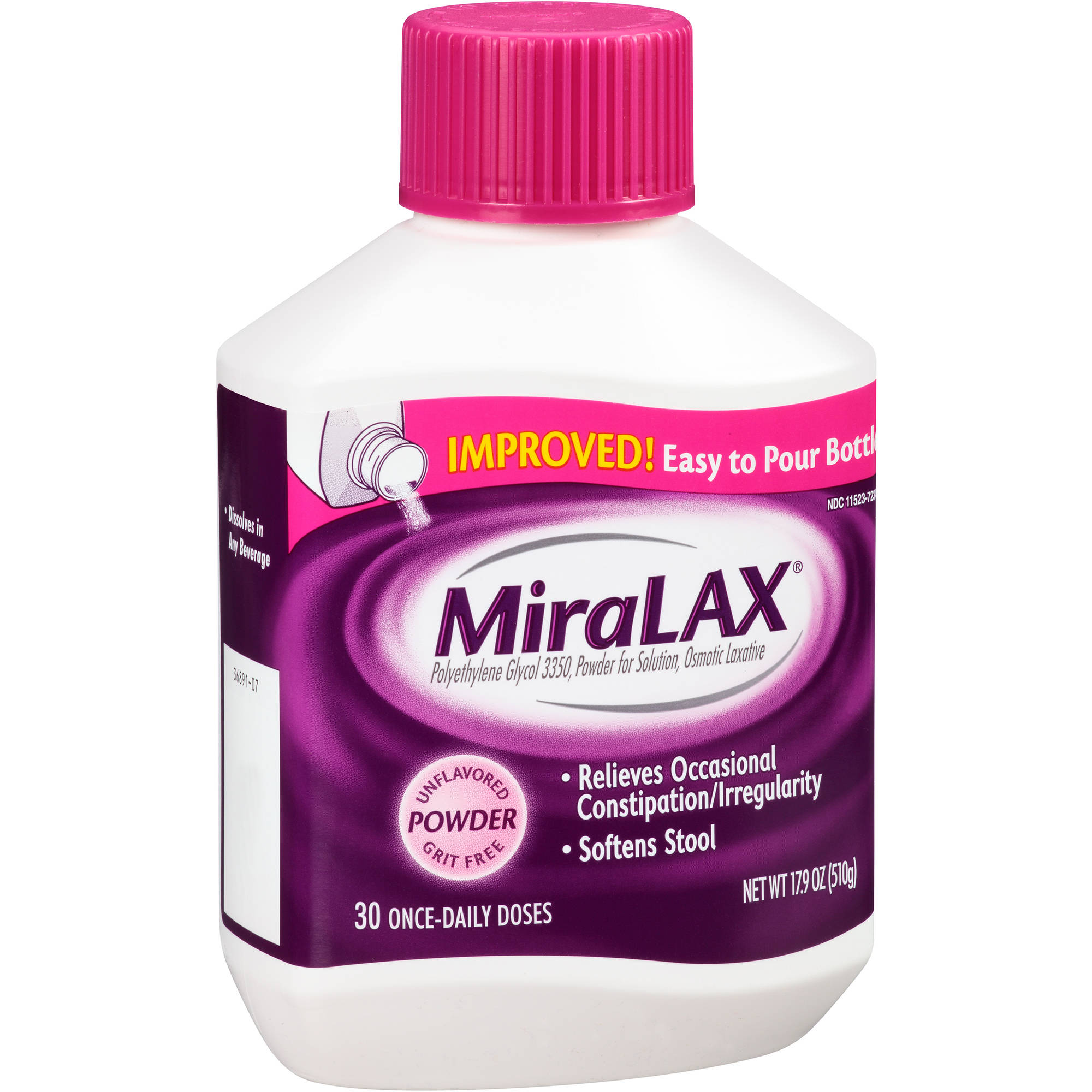 MiraLAX Powder Laxative, 17.9 oz
