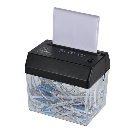 Mini Portable USB Paper Shredder Cutter Strip Cut A6 Folded A4 Cutting Machine Tool with Letter Opener Wastebasket