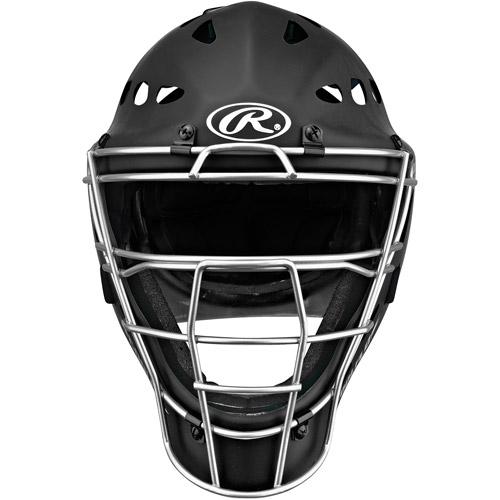 Rawlings Rubberized MCH1 Catcher's Helmet, Black