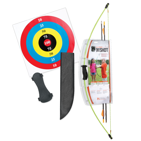 Bear Archery 1st Shot Youth Bow Set in Flo Green - Children's Bow And Arrow