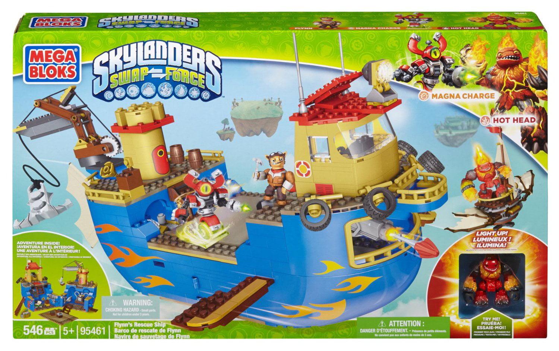 Skylanders Swap Force Flynn's Rescue Ship Set Mega Bloks 95461 by Generic