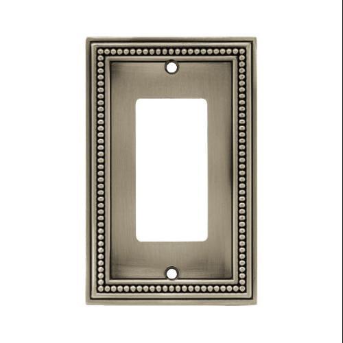 Brainerd Mfg Co/Liberty Hdw W10237-BSP-U Decorator Rocker/GFI Plate, 1-Gang, Beaded, Brushed Pewter Zinc - Quantity 1