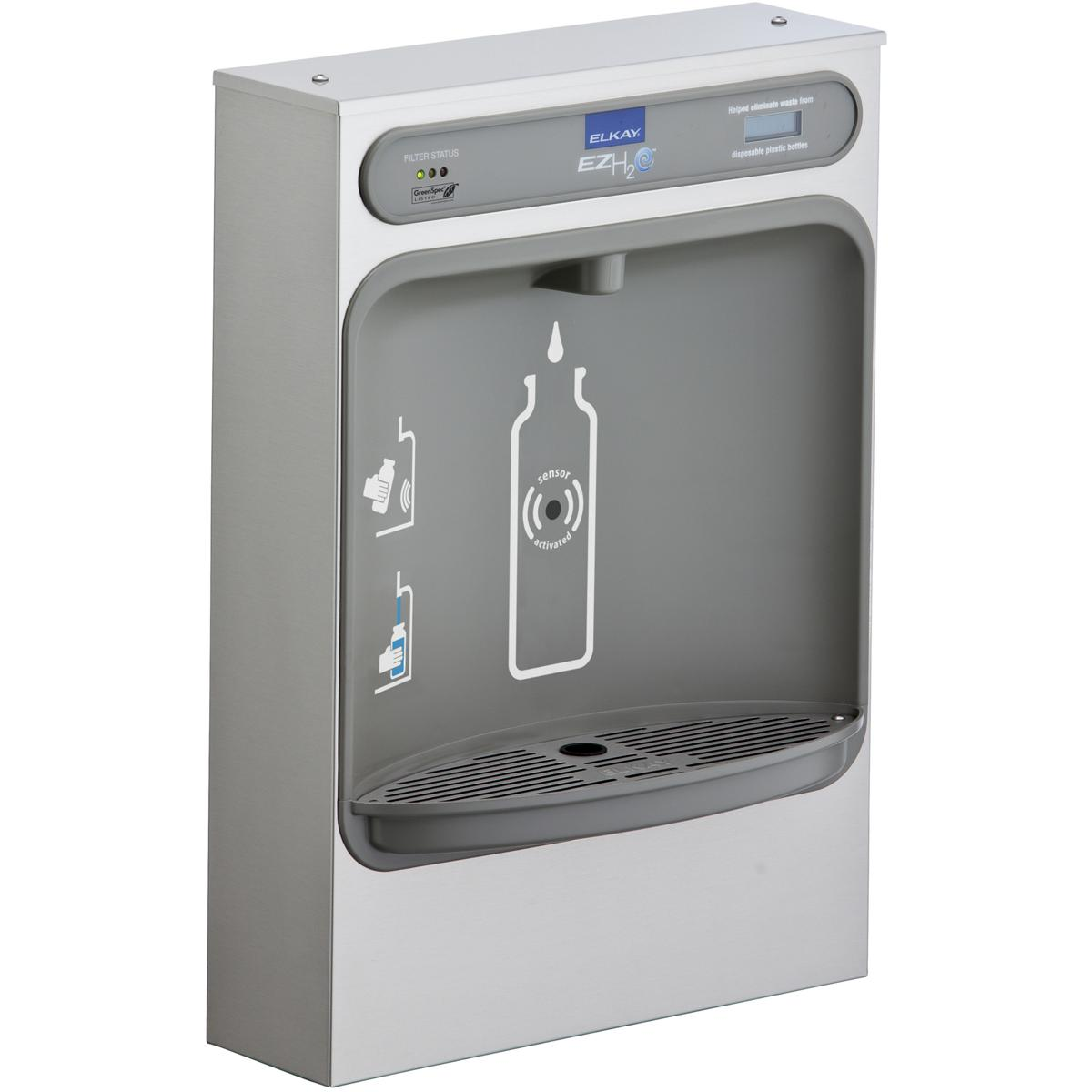 Elkay EZH2O Bottle Filling Station Surface Mount, Filtered Non-Refrigerated Stainless Stainless Steel