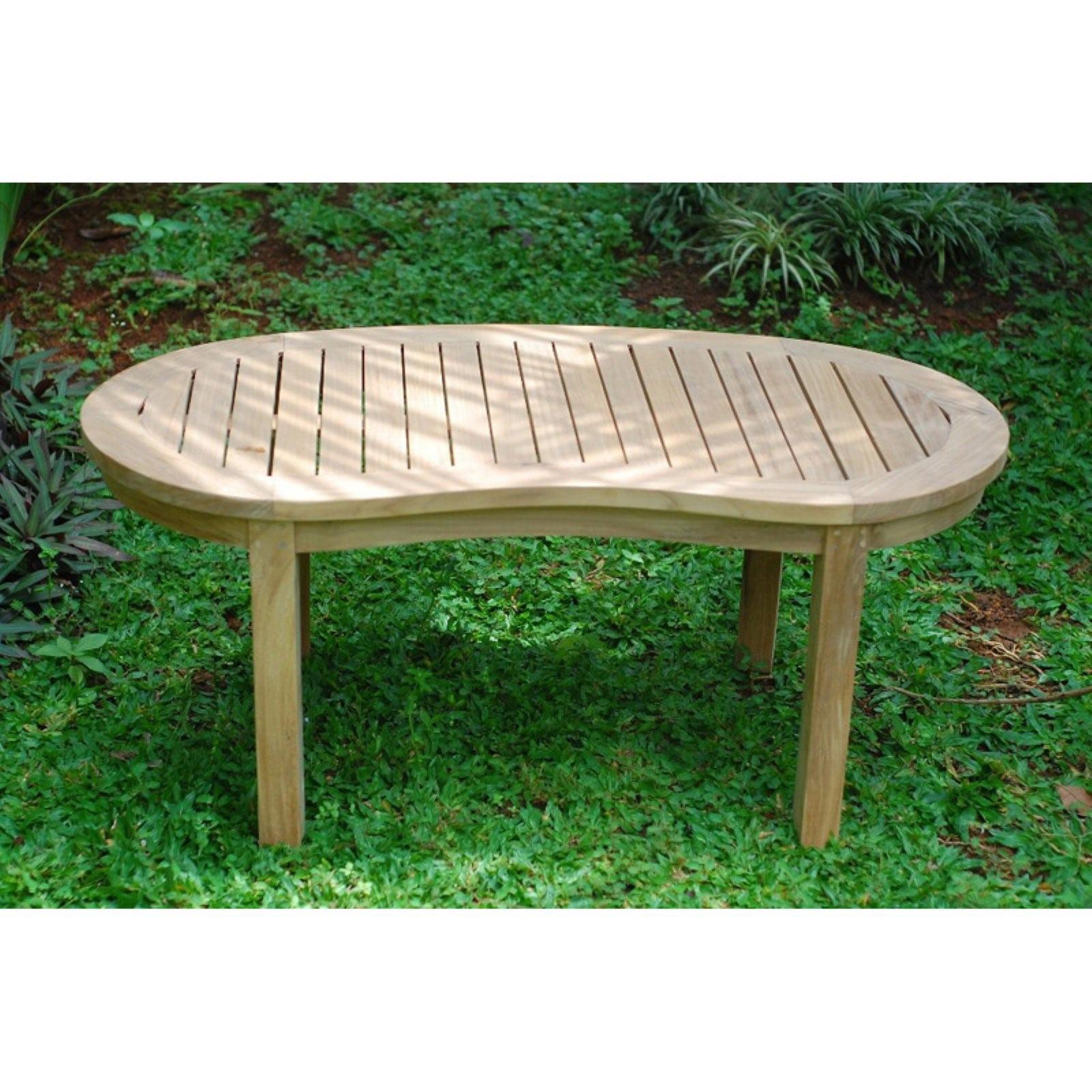 Windsor Teak Furniture Kensington Kidney Shaped Patio Coffee Table by Windsor Teak Furniture