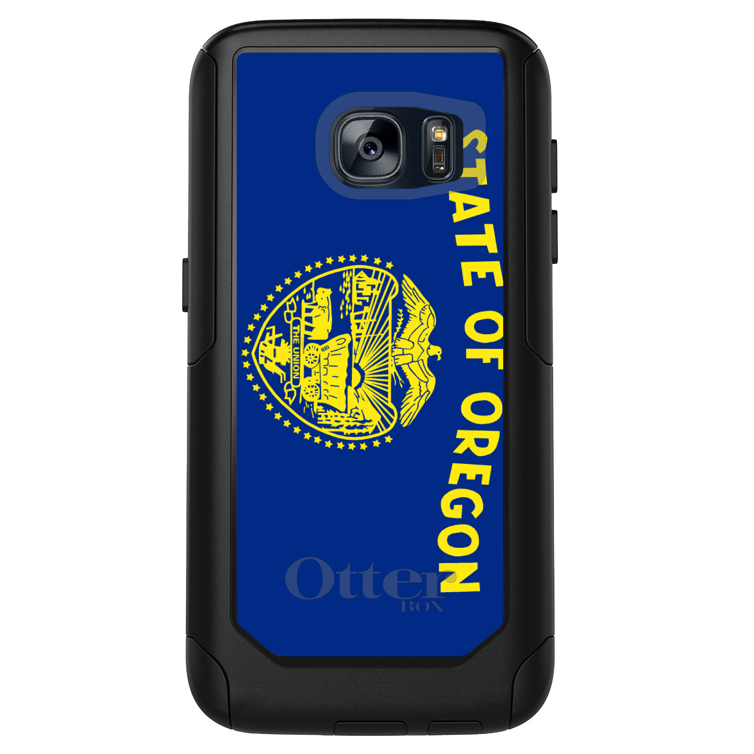 CUSTOM Black OtterBox Commuter Series Case for Samsung Galaxy S7 - Oregon State Flag