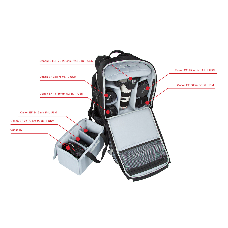 74f37c3e8f5 BAGSMART Anti-theft Professional Gear Backpack for SLR/DSLR Cameras & 15