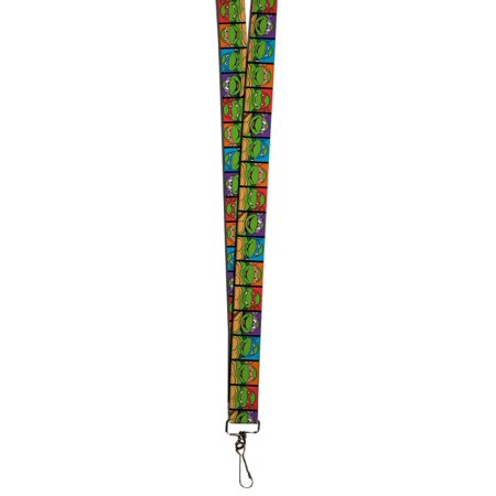 TMNT Cartoon TV Series Turtle Color Portraits Lanyard](Ninja Turtles Names And Color)
