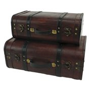 Aspire Home Accents Rothschild Suitcase Trunks - Set of 2