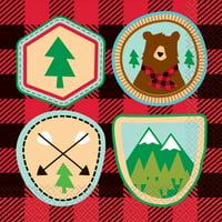 Buffalo Plaid Lumberjack Birthday Paper Luncheon Napkins, 6.5 in, 16ct