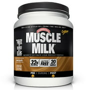 Muscle Milk Genuine Protein Powder, Chocolate, 4.94 lb Canister