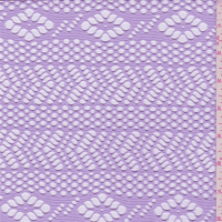 Pale Lilac Purple Mesh, Fabric By the Yard