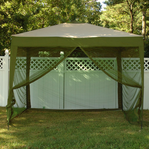 Bliss STOW-EZ 10' x 10' Pop-up Canopy with Mosquito Net and Carry Bag