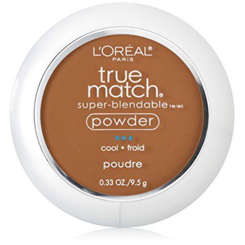 L'Oreal Paris True Match Super-Blendable Powder, Nut Brown, 0.33 oz.