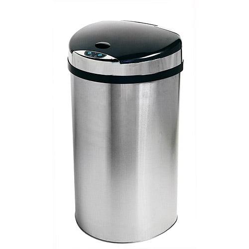 itouchless 13 gallon semi-round automatic sensor trash can