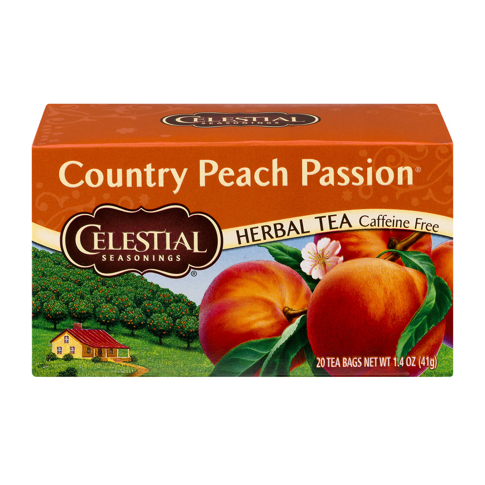 Celestial Seasonings Country Peach Passion Herbal Tea Bags 20 ct Box by The Hain Celestial Group, Inc.