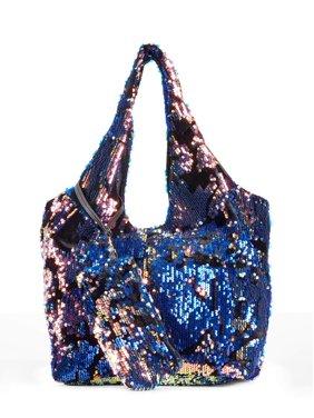 Product Image Metallic Sky Women S Sunday Sequin Tote