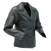 Women's Lambskin Leather Pocket Blazer Coat #L2491PPK - M