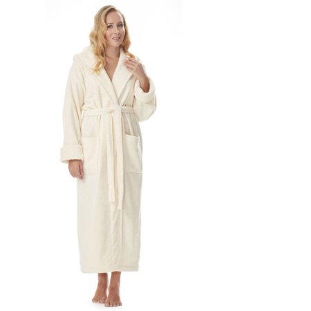 f31d2c98da Arus - Arus Women s Organic Cotton Hooded Full Length Turkish Bathrobe -  Walmart.com