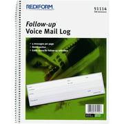 Rediform Follow-Up Voice Mail Log Book, 1 Each (Quantity)