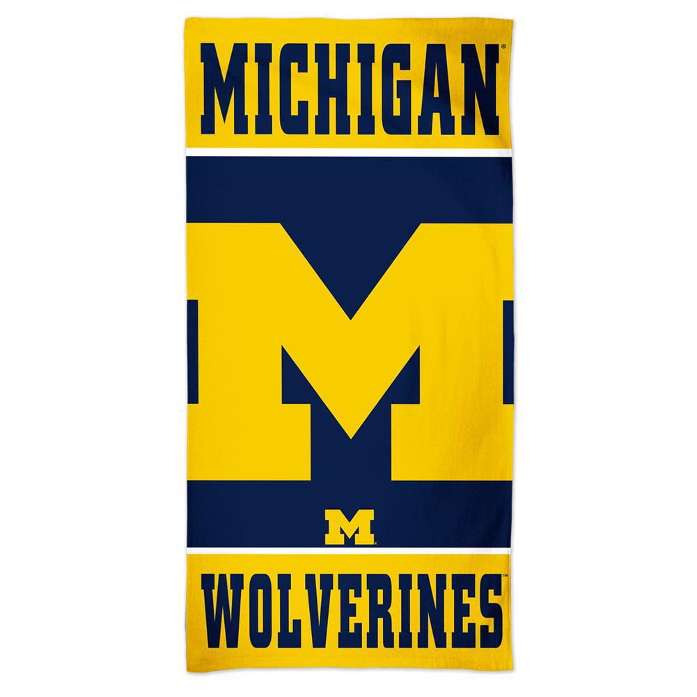 University of Michigan Wolverines Beach Towel 30 x 60 Spectra Beach Towel