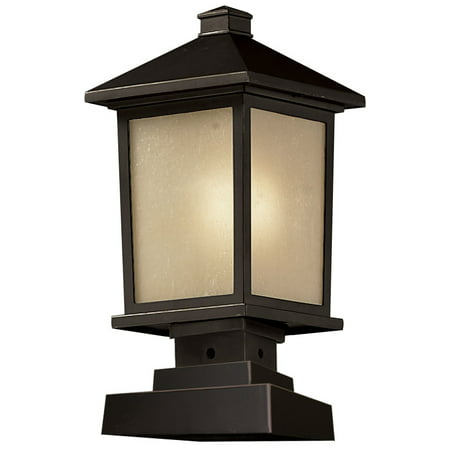 Outdoor Accessory 1 Light With Oil Rubbed Bronze Finish Aluminum Medium Base Bulb 8 inch 100 Watts