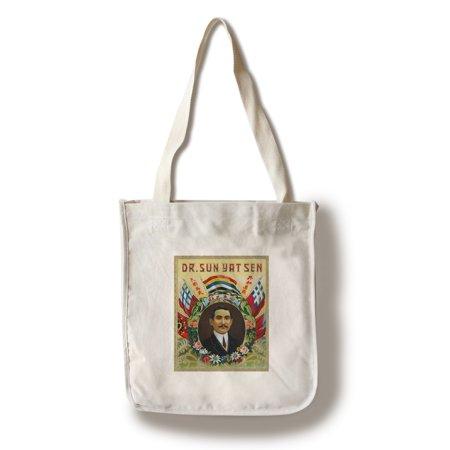 Dr. Sun Yat Sen Brand Cigar Box Label - Sun Yat-sen, Chinese Revolutionary (100% Cotton Tote Bag - (Dr Sun Yat Sen Classical Chinese Garden)